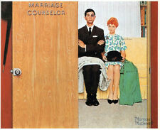 Norman Rockwell print:THE MARRIAGE COUNSELOR divorce counseling married vintage
