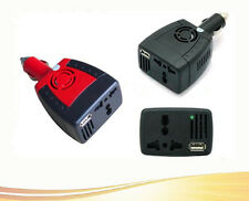 AC+USB 5V Charger Adapter Power Inverter 12V DC New Hot 75W To 110/220V Car