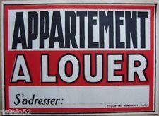 affiche ancienne ... APPARTEMENT A LOUER