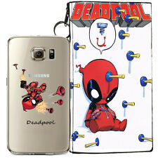 DEADPOOL JELLY CLEAR CASE FOR SAMSUNG GALAXY S7 EDGE + POUCH