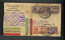 1929 Guadalajara to San Luis Potosi Mexico first flight cover FFC American Club