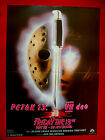 FRIDAY THE 13TH NEW BLOOD 88' HORROR JOHN CARL BUECHLER RARE EXYU MOVIE POSTER