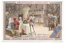 Allemagne XVe - Le repas de Noël - Costume - Chromo Arlatte et Cie - Trade card