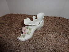 Victorian Shoe Hand Painted Lefton China 3D Pretty Flowers Victorian Porcelain