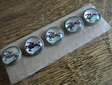 Vintage Set Of 5 Equestrian / Horse Rider / Hunting Buttons c.1930 Essex Crystal