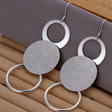 Ladies Earring Ear Hangers Studs Hoop pl. with Sterling silver DO012