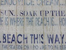 Fryetts Boardwalk Harbour Blue Seaside Curtain Upholstery Craft Fabric