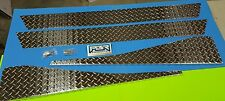 """JEEP TJ Diamonds plated TOP FENDER COVERS WITH BEND & 5"""" ROCKER COVERS 4 Piece"""
