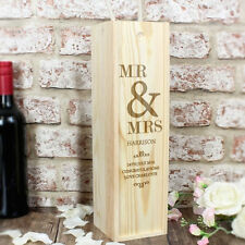 Personalised Couples Alcohol Bottle Presentation Box - Wedding, Anniversary Gift