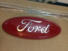 "2004-2015 FORD EDGE,F-150 CUSTOM PAINT EMBLEM,9""GRILLE OR TAILGATE,RED & CHROME"