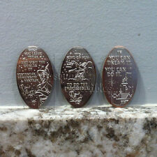 Walt Disney Quotes Pressed Coin Set of Three Quarters from Disneyland