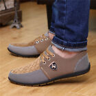 Men's Flats Canvas Mesh Breathable Recreational Shoes Casual Slippers AU Size
