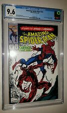 The Amazing Spider-Man #361 CGC 9.6 NM+ White pages CARNAGE Marvel