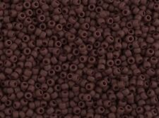 TOHO Seed Bead Round 11/0 Opaque-Frosted Oxblood