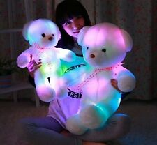 Cute Stuffed Flash Light Plush Lovely Teddy Bear Soft Doll Baby Toys 50*35CM