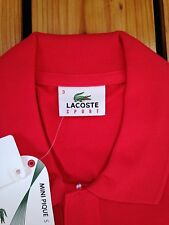 lacoste mens poloshirt size:3