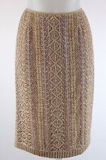 Carolina Herrera Gold Beaded and Embroidered Skirt Size XS