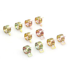10Pcs 12mm / 0.47 inch Spring Clip Fuel Oil Water Hose Pipe Tube Clamp Fastener