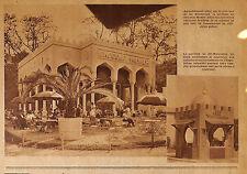 CHOCOLAT MENIER PAVILLON EXPOSITION COLONIALE PUBLICITE 1931