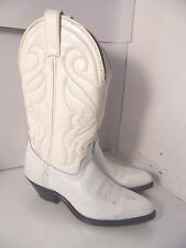 Rocky White Leather Boots Western Cowboys Womens Sz 7 M