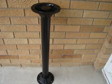 "RV pedestal 27 ½"" TABLE LEG + 2 ABS surface mount base 6 ½""dia for 2 ¼"" pole"
