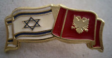 Albania and  Israel Flag pin