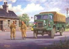 Old British Army Lorry Truck Bedford QL National Service Birthday Card