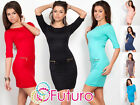 NEW Trendy Women's Shift Dress Crew Neck Short Sleeve Tunic Size 8-12 8449