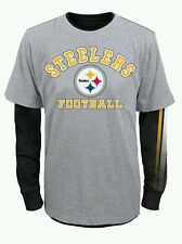 """Pittsburgh Steelers Youth NFL """"Classic Fade"""" 3 in 1 T-Shirt Combo Set"""