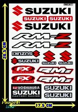 Red+Silver Suzuki Yoshimura LOGO motorcycle RM-Z Racing Clear sticker Car Decals