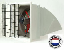 "EXHAUST FAN Commercial - Incl Hood, Screen & Shutters - 24"" - 3 Spd - 6203 CFM 1"