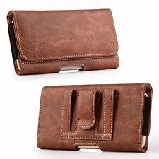 CELL PHONE PROTECTIVE RUGGED LEATHER POUCH CASE WALLET COVER HOLSTER BELT CLIP