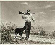 RARE STILL AUDIE MURPHY HUNTING WITH HIS DOG