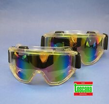 Dental Medical Veterinary Lab Protection Glasses Safety Set /2 Rainbow TOSCANA