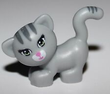 LeGo Cat Standing Looking Left w/ Light Green Eyes Dark Pink Nose + Mouth Animal