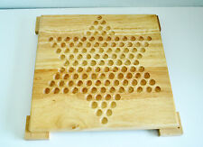 Cardinal CHINESE CHECKERS Wooden Game Board With Legs NO MARBLES NO BOX