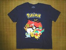 Pokemon Go tshirt sz XL Blue Men's Pokeball Pikachu Nintendo Video Game Retro
