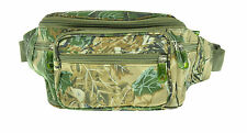 Camo Fanny Pack 6 Pocket Water Repellent Travel Waist Belt Bag Cell Phone Holder