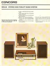 VINTAGE AD SHEET #1997 - CONCORD STEREO HIGH FIDELITY MUSIC SYSTEM