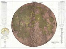 GEOGRAPHY MAP ILLUSTRATED ANTIQUE USGS PHYSICAL MOON POSTER ART PRINT BB4506A