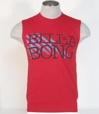 Billabong Signature Red Sleeveless Tank Tee T Shirt Mens Small S NWT