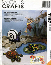 McCall's Pond Life Turtle,Frog,Snail,Snake Pattern 7167