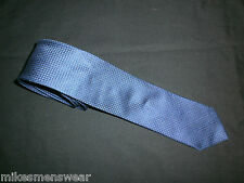 "DESIGNER BOGGI MILANO WOVEN SILK TIE.2.75"" 58"" - IN TEXTURED BLUE  DESIGN"