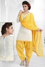 Radiant Cotton Embroidered Salwar Suit Dress Material D.NO NKT1172