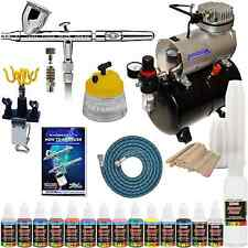 IWATA HP-CS Eclipse Airbrush Kit With Airbrush Depot Tank Compressor and 6 Foot
