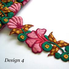 Eve Garden --- Cotton Silk Embroidered Trim * per 1/2 meter* *7 colours*