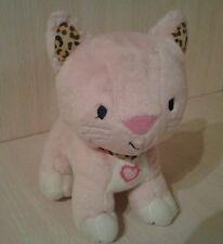 Jumping Beans Plush Kitty Cat Pink Leopard Ears Collar