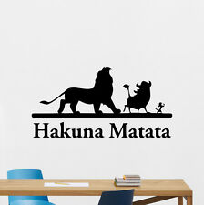 Hakuna Matata Wall Decal Lion King Cartoon Vinyl Sticker Nursery Decor Art 63hor