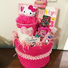 Hello Kitty Themed Gift Basket Birthday Present Easter Special Occassion Girl