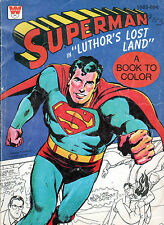 SUPERMAN Coloring Book - LUTHOR'S LOST LAND 1975 Used